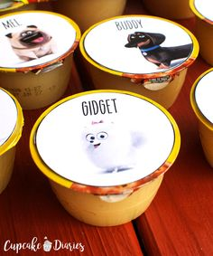 The Secret Life of Pets Printable Applesauce Cup Toppers - staci is - loldolls Birthday Party Snacks, 6th Birthday Parties, Third Birthday, Boy Birthday, Birthday Ideas, Cupcake Diaries, Secret Life Of Pets, Puppy Party, Animal Birthday