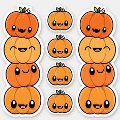 Fall Drawings, Sweet Drawings, Kawaii Stickers, Cute Stickers, Binder Cover Templates, Create This Book, Halloween Artwork, Kawaii Halloween, Cute Animal Drawings Kawaii