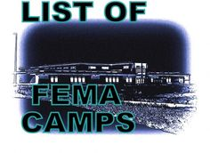 FEMA camp list - What do you think...is it time to get worried yet? Obama is working all hours of the day to try and disarm as much of the population as possible, and although he claims it in the name of American safety, many U.S. citizens know otherwise. http://www.thetruthdenied.com/news/2012/01/04/list-of-fema-camps/
