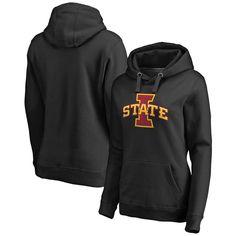 Iowa State Cyclones Fanatics Branded Women's Plus Sizes Primary Team Logo Pullover Hoodie - Black