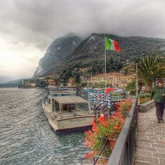 Lake Como shines with Italian pride, even on a blustery day.  Photo courtesy of jeffs2ndshot on Instagram.