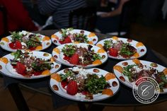 Mixed greens with goat cheese crumbles, spiced pecans, grapes, strawberries, and sliced orange served with balsamic dressing | Classic Digital Photography | villasiena.cc