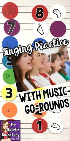 Looking for a fun and fabulous visual aid for choir or your general music class?  Check out this article for ideas to use Music-Go-Rounds as singing aids and fun workstations.
