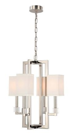 DIMENSIONS: w18.5 x h24.25 x d18.5 (in)TOTAL NUMBER LIGHTS: 4EXTERNAL LIGHTS: 4TOTAL WATTAGE: 240BULB TYPE: CandelabraMATERIAL: SteelFINISH: Polished NickelCHAI
