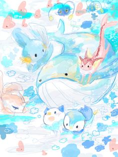 There's a shiny vaporeon! Pokemon Team, Pokemon Memes, Pokemon Fan Art, Water Type Pokemon, Mudkip, Cute Pokemon Wallpaper, Pokemon Pictures, Anime, Leprechaun