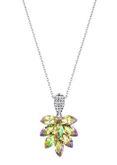 Neoglory Jewelry Charm Crystal Pendant Necklace Platinum Plated Rhinestone Jewelry Accessories For Women