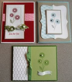 Handmade cards made with World Treasures stamp set by Stampin' Up!