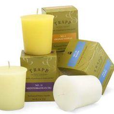 Trapp Candles 2 Oz Votive; No 20-Water, No 14-Mediterranean Fig & No 4-Orange Vanilla are my favorites!