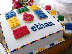 Lego birthday cake & cupcakes ~ My Sweet Things