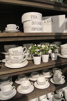 White on brown shelves .... Cobello