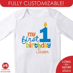 Personalized Boys 1st Birthday Shirt or by HeatherRogersDesigns, $16.50