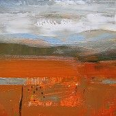 Autumn Square, Fiona Millais Pastel Paintings, Abstract Paintings, Abstract Art, Abstract Landscape, Mixed Media Art, Ethereal, Rust, Landscapes, Collage