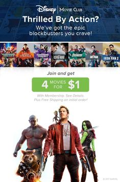 Be a super hero to your family and get 4 epic adventures delivered right to your door. Get 4 movies for $1 with membership. Plus free shipping on initial order. See details.