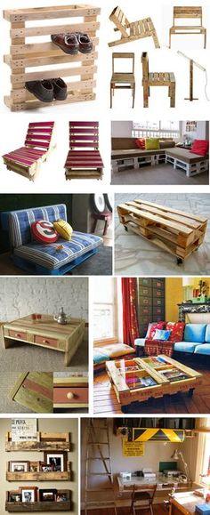 Some Great furnitures made by alternative materials.,MARAVILHOSAS EDEIAS PRA APROVEITAMENTO DE MADEIRAS