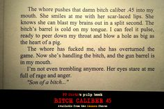 Bitch Caliber 45: the pulp novel by FP Curti is now available from the Amazon Stores #noir #comics #horror #pulpfiction #god #weapons #guns #slut #whore #prostitute #lapdancing #book #books #lit #fiction #city #night #nite #stripper #inked #action #adult #bitch #kindle #ebook #kindle #ipad #paperback #hardcase #hardboiled