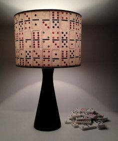 Time to play...  Lamp shades with Vintage Dominos design, fresh handmade & unique