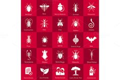 Icon set for pest control companies by DreamMaster on @creativemarket