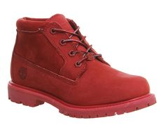 Buy Red Mono Nubuck Timberland Nellie Chukka Double Waterproof Boot from OFFICE.co.uk.