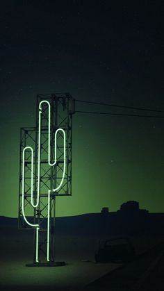 Neon Green Cactus