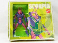 Unopened Sealed Scorpio Action Figure Toy Major Matt Mason 1969 Vintage Original Box Space Alien Super Rare Hard To Find Collectible #Mattel #MajorMattMason #Toy