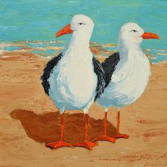 canvas art print seagull | Seagull II Painting by Patricia Awapara - Seagull II Fine Art Prints ...
