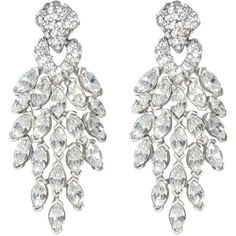 Rental Ben-Amun Crystal Peacock Earrings ($112) ❤ liked on Polyvore featuring jewelry, earrings, accessories, brincos, orecchini, swarovski crystal earrings, peacock jewelry, crystal jewellery, peacock feather earrings and peacock jewellery