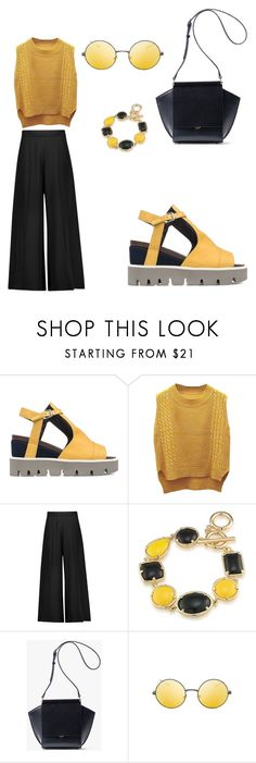 """""""Bumble bee 🐝"""" by mrsagosto ❤ liked on Polyvore featuring Strategia, WithChic, Valentino, 1st & Gorgeous by Carolee and Topshop"""