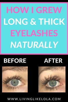 Best way to grow out your eyelashes! I  use this eyelash serum every night and my eyelashes have grown significantly! (See results!) #eyelashtips #longlashes