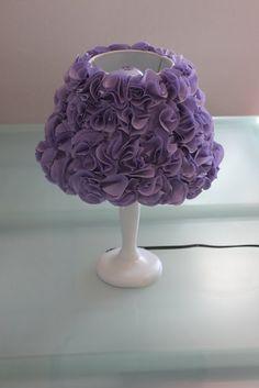 Momma Rake: Pom Pom Lamp- make this lamp shade- SO easy! 160 bucks at PB...