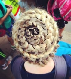 The glam braids are attached securely with hidden pins. This adorable hairstyle is better for people with long or heart-shaped face. The dainty braided up-do is of strong fashion and is a truly eye catcher