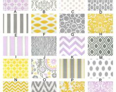 Etsy - can customize crib bedding by selecting from a number of fabrics...I like some of the fabrics in the sample photos that don't appear in the list of fabric options but the owner sounds flexible and open to custom ideas