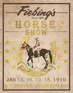 Old horse show poster