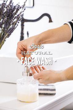 Basic Natural Face Wash + Four Ways to Customize Homemade Face Wash - Live Simply Natural Face Wash, Natural Face Cleanser, Natural Skin Care, Natural Beauty, Au Natural, Natural Cures, Natural Living, Oily Skin Care, Face Skin Care