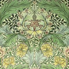 William Morris Floral Design Shower Curtain on CafePress.com