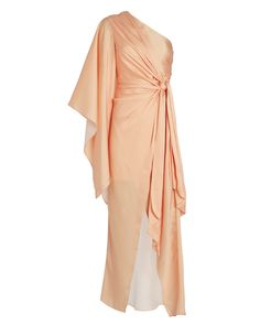 Significant Other Caspian Draped One-shoulder Dress In Salmon Grecian Dress, Draped Dress, One Shoulder, Shoulder Dress, Significant Other, Designer Dresses, Wedding Inspiration, Elegant, Clothes
