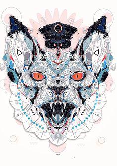 electro animals 2 by Yo Az, via Behance