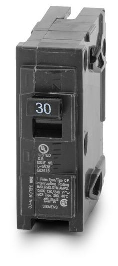 Miniature circuit breaker plug in type 120240v 5060hz 1pole 60a siemens q130 12 pack 1 pole 30 amp plug in circuit sciox Image collections