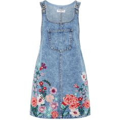 Embroidered Denim Pinafore Dress by Glamorous Petite – – outfit.tophaarmodelle Embroidered Denim Pinafore Dress by Glamorous Petite – Denim Pinafore, Pinafore Dress, Fashion Salon, Fashion Trends, Trending Fashion, Fashion Ideas, Denim Fashion, Fashion Outfits, Dress Fashion