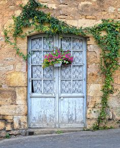 Door With White Lace In Provence