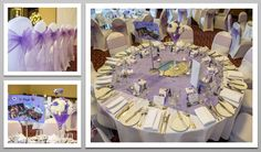 Lilac colour schemed venue dressing. Lilac organza chair sashes. You can hire venue dressing like this at Natalija.Co Event Planning, find us on facebook, or visit our website, www.natalija.co.uk