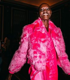 For @SiesMarjan's fall/winter 2017 collection at #nyfw the creative director Sander Lak embraced bold colors like magenta neon apricot and lush nudes in the form of free-flowing silhouettes and textured furs. Photo by Alyssa Greenberg (@smallgirlbiglens).  via NY TIMES STYLE MAGAZINE OFFICIAL INSTAGRAM - Celebrity  Fashion  Haute Couture  Advertising  Culture  Beauty  Editorial Photography  Magazine Covers  Supermodels  Runway Models