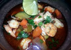 Spicy chorizo & longaniza shrimp soup Recipe -  Yummy this dish is very delicous. Let's make Spicy chorizo & longaniza shrimp soup in your home!