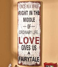 Impressive Wooden Expression Wall Plaque looks like it was created from a piece of reclaimed weathered wood. A beautiful message in bold letters decorates this