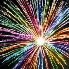 Rainbow finale rocket - that is an impressive firework & great range of colours!