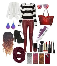 Fall Fury by kaytaydel27 on Polyvore featuring polyvore, fashion, style, Elizabeth and James, Balmain, Converse, Breckelle's, Valentino, Kendra Scott, Athleta, Topshop, OtterBox, Jigsaw, Matthew Williamson, Clinique, NARS Cosmetics, Gucci, Elizabeth Arden, H&M and clothing