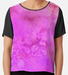 Pink Power Watercolor Texture Chiffon Top Purple Art, Yellow Art, Pink Art, Green Art, Watercolor Circles, Watercolor Texture, Watercolor Pattern, Pink Power, Mermaid Art