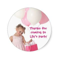 Personalised Kids Pirate Fairy Birthday Party Thank You Stickers  Pack Of 24