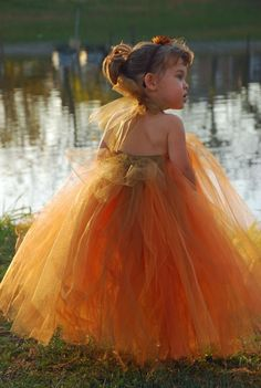 Burnt Orange Tutu Dress or Tutu---Available in Many Color Combinations----Perfect for WEDDINGS. $90.00, via Etsy.