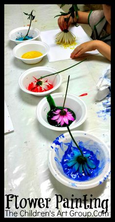 The Children's Art Group: Meetup 33: Flower Painting