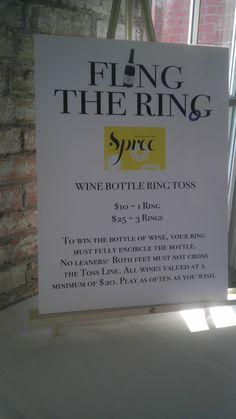 wine bottle ring toss